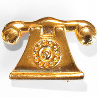 Telephone-brooch