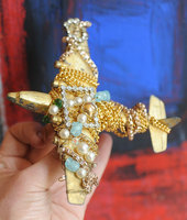 Surreal-plane-brooch
