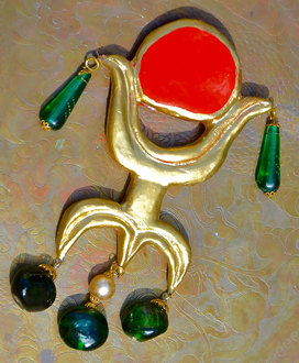 Sunset-brooch